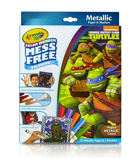 crayola giant coloring pages teenage mutant ninja turtles crayola 174 color wonder teenage mutant ninja turtles