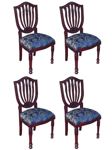 Chaises Acajou by 4 Chaises Baroque En Acajou Massif Meuble De Style