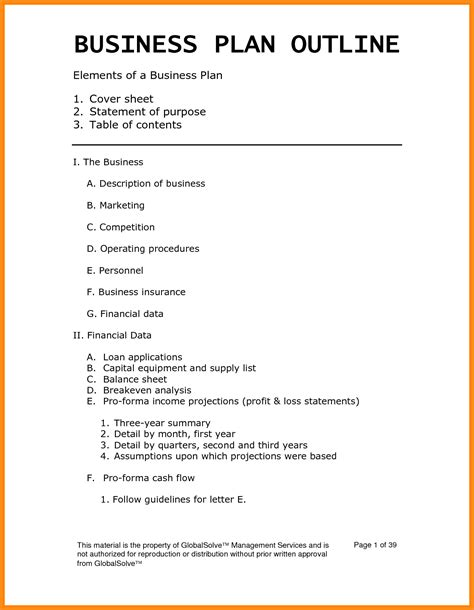 printable business plan template weekly lesson plan