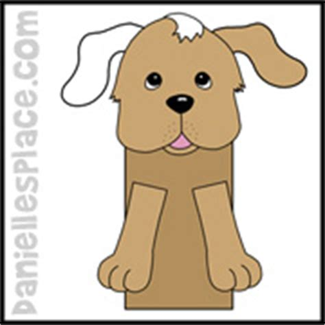 paper bag dog pattern dog crafts and learning activities for kids