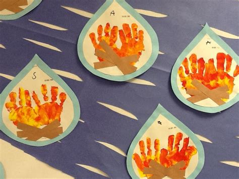 safety crafts for safety handprint flames crafts