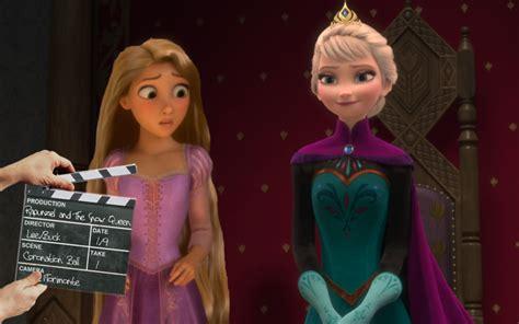 film elsa vs rapunzel rapunzel and the snow queen frozen tangled by