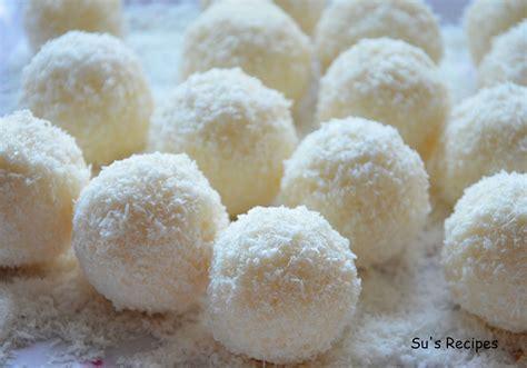 desserts coconut coconut laddu recipe dishmaps