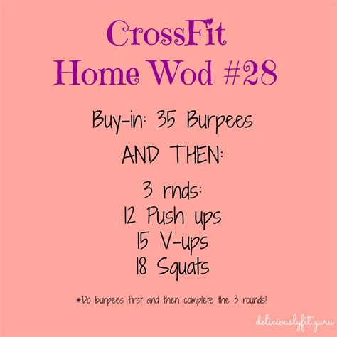 crossfit home wod 28 deliciously fit
