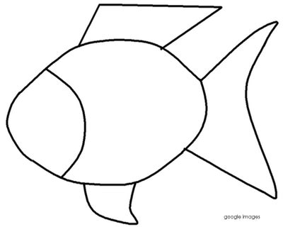 Outline Of A Fish Scale by Rainbow Fish Clip Cliparts Co