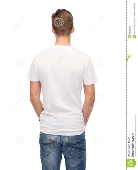 T Dos homme dans le t shirt blanc vide du dos image stock image 43060493