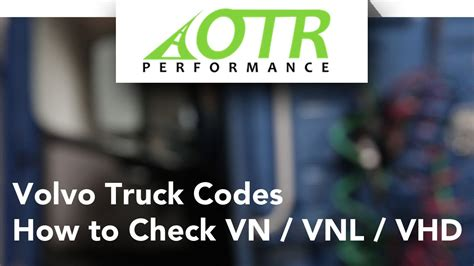 volvo trucks fault codes volvo truck fault codes how to check vn vnl vhd otr