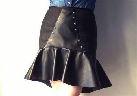 diy leather studded skirts leather studded skirts