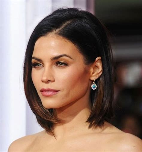 brunette bob hairstyles pinterest jenna dewan tatum s super sleek and straight long brunette