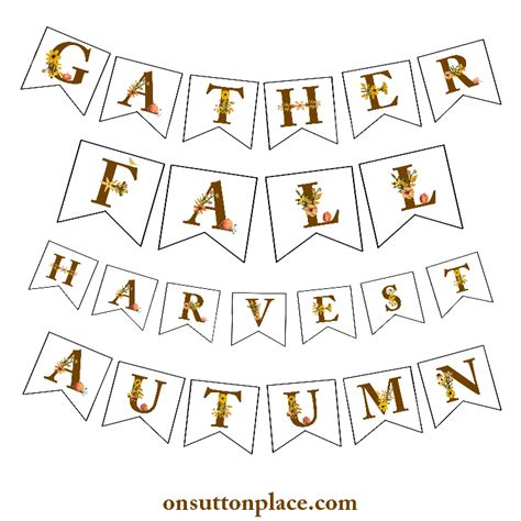 printable alphabet letters for wall fall floral alphabet printables banners diy wall art
