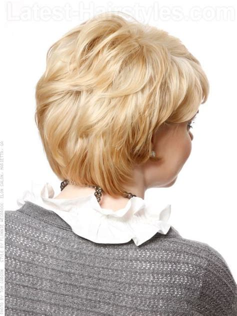 hair short in front medium layered in back short hairstyle with long layers back view i really like