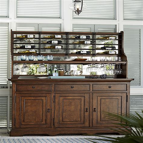 paula deen wine cabinet dogwood brown credenza with wine rack paula deen buffets