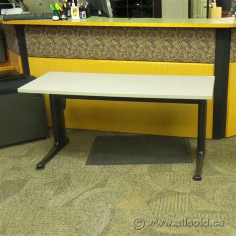 Herman Miller Grey Straight Desk Table Allsold Ca Buy Standing Desk Calgary