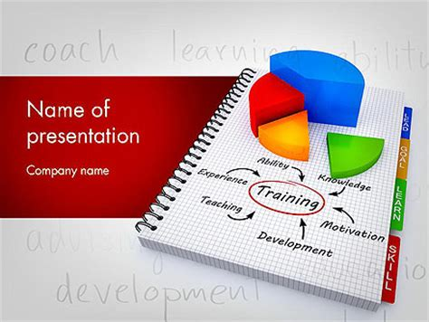 powerpoint templates for training training plan with pie chart presentation template for