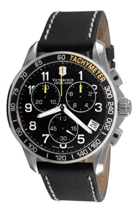 Swiss Army Sa2013m Black Leather victorinox swiss army s 241316 chrono classic chronograph black bossman watches