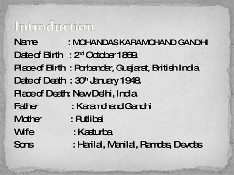 Biography Of Mahatma Gandhi From Birth To Death | mahatma gandhi