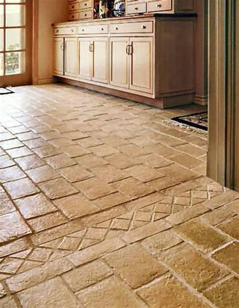 Interior Natural Stone Flooring For Extraordinary Classc Tiled Kitchen Floors