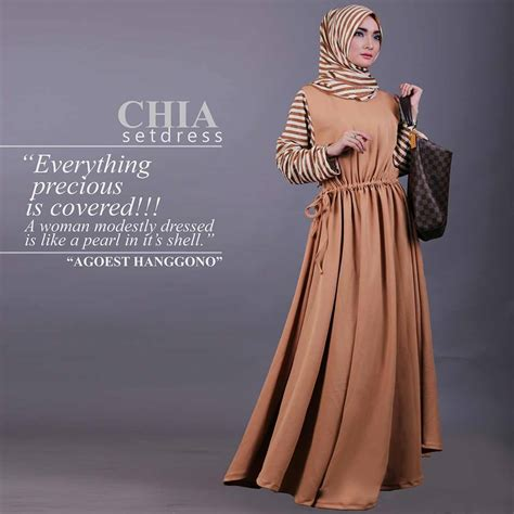 Agoest Pant Brown chia brown baju muslim gamis modern