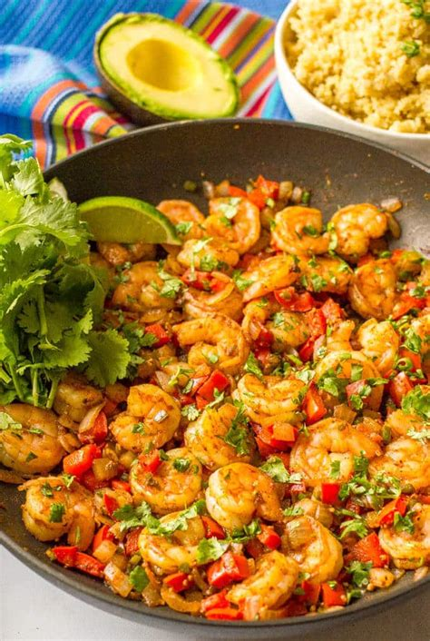 easy mexican dinner easy mexican shrimp skillet family food on the table