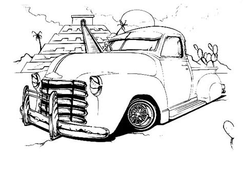 lowrider truck coloring page monster truck inferno coloring page download print
