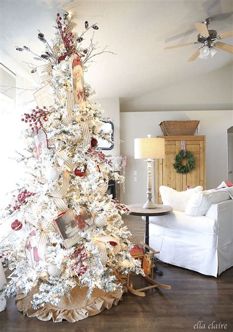 pictures of white decorated trees 25 best ideas about flocked trees on