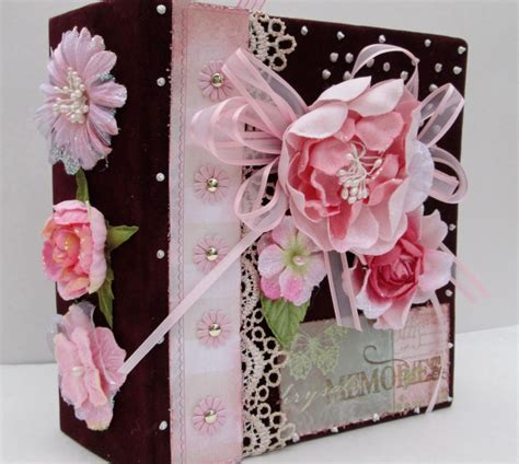 Handmade Scrapbook Album - handmade photo album mini scrapbook album by