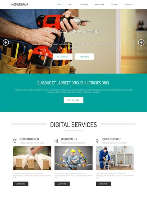 home renovation website template home renovation