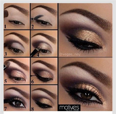 Eyeshadow Gold Tutorial smokey eyeshadow tutorial with picture trusper