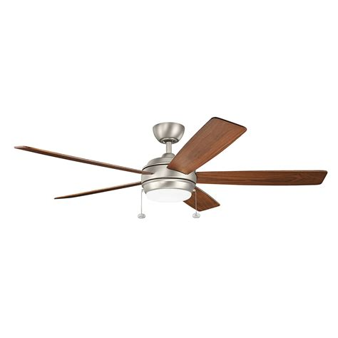 ceiling fans 60 inches or larger kichler starkk brushed nickel 60 inch led ceiling fan with
