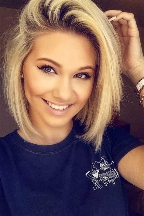 Blonde Haircuts For Round Faces | 30 blonde short hairstyles for round faces blonde short