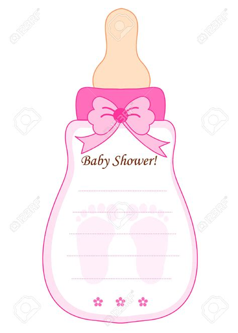 baby shower invitation card template free printable 4 fold baby bottle invitation templates cloudinvitation