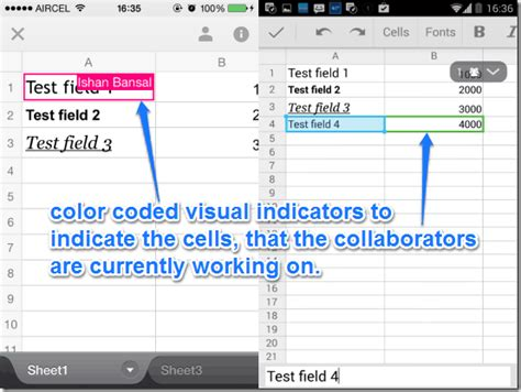 Spreadsheet Collaboration by Sheets App Released For Ios And Android