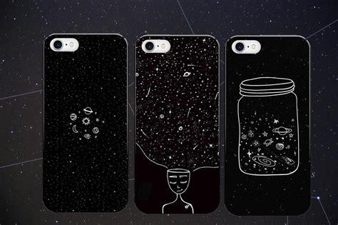 moon night airship astronaut stars ufo hard phone case  cover  iphone se