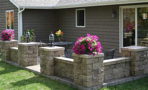 patio wall ideas paver wall designs nightvale co