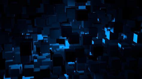 vn cube dark blue abstract pattern wallpaper