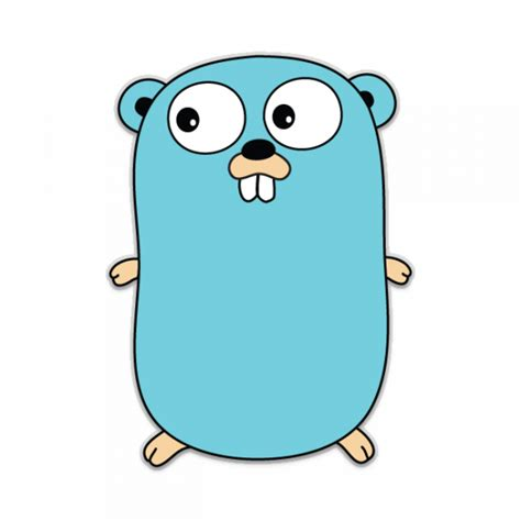 golang android golang go programming language shaped sticker unixstickers