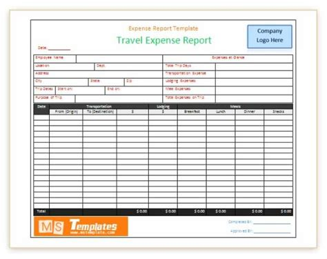 Report Templates Microsoft Office Templates Microsoft Office Expense Report Template