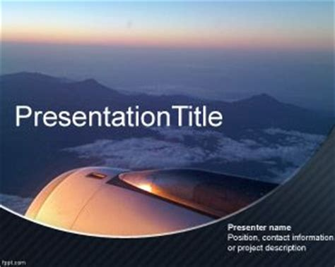 aviation powerpoint templates airplane powerpoint template is an attractive background