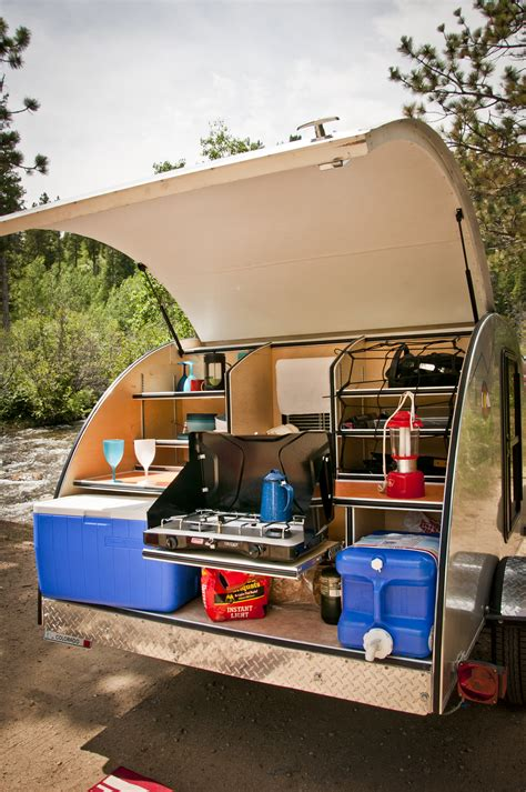 teardrop trailers hitch a tiny kitchen to your car the kitchn basedrop colorado teardrops
