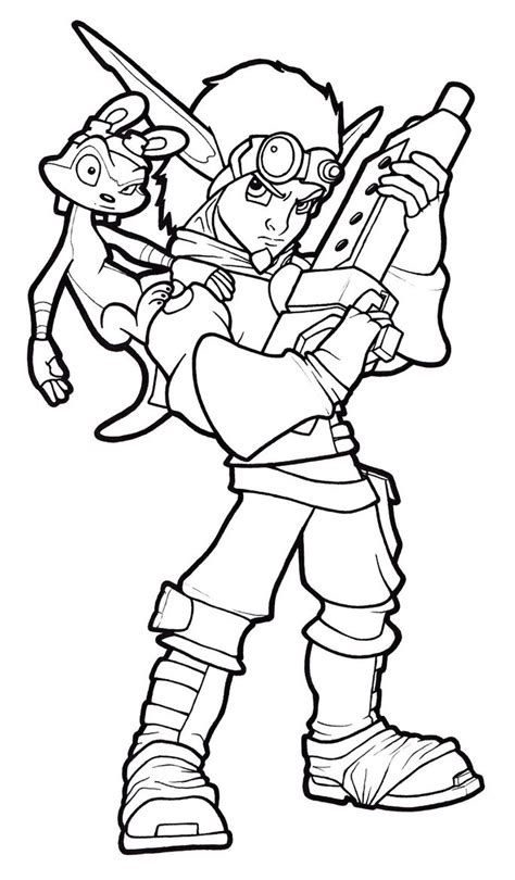 Jak And Daxter Line Art By Fatgurl06 On Deviantart Jak And Daxter Coloring Pages