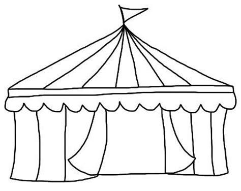 circus tent template coloring pages