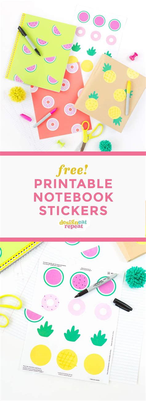 printable notebook stickers diy printable school book covers diy do it your self