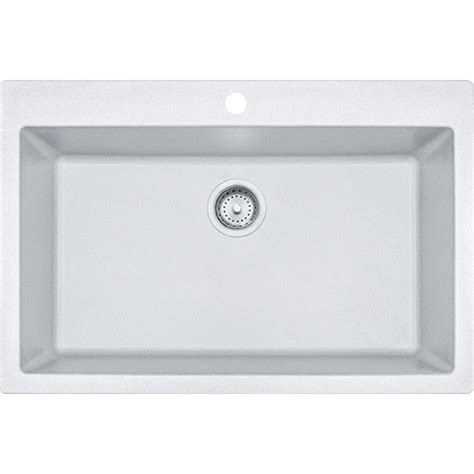 franke granite kitchen sinks franke dig61091 wht primo 33 inch dual mount single bowl