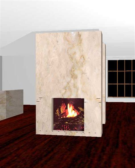 Fireplace Render 3d interior rendering