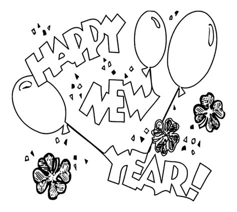 free new years coloring pages printable new year s balloons coloring page crayola