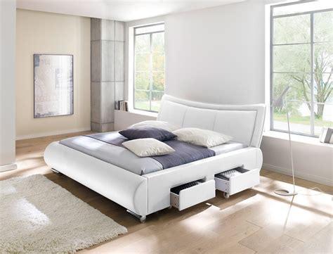 komplett schlafzimmer mit matratze polsterbett lando bett 180x200 cm wei 223 mit lattenrost und