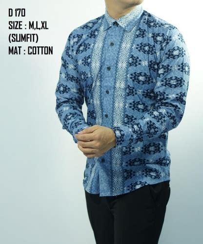 22 model baju batik pria lengan panjang modern elegantria