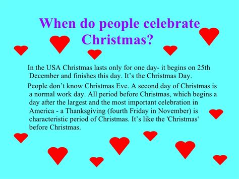 christmas in the u s a