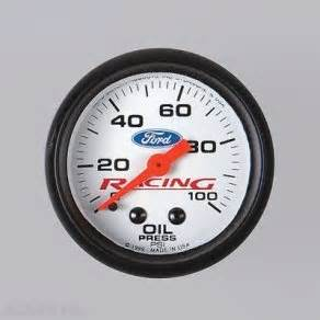 Ford Racing Gauges Ford Racing Pressure 52mm White New For
