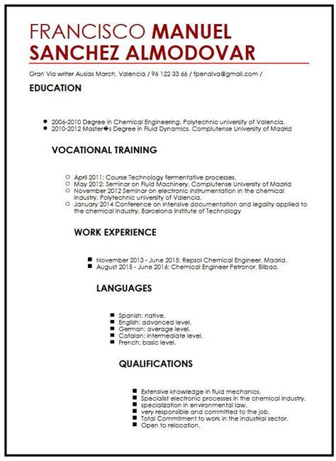Modelo Primer Curriculum Vitae Experiencia Laboral Ejemplo De Cv Libre Curriculum Vitae Builder